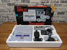 Super Nintendo Console SNES - Mario World Set - Complete in Box with Games