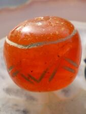 Rare Ancient Bactrian etched carnelian bead  (Pakistan)