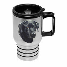 Black Labrador Retriever Stainless Steel 16oz Tumbler