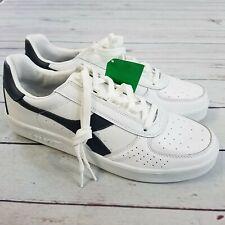 Diadora Mens B. Elite Casual Sneakers Size 9 White/Navy