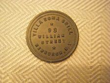 Villa Roma Grill, 93 William St., Newburgh, NY., GF 10 Cents in Trade