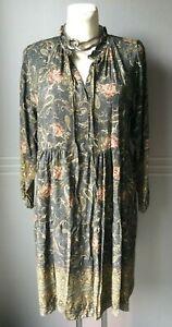 Italy Hippie Boho Blumen Hängerchen Tunika Kleid  Gr. 38 40 42 44 Neu K30