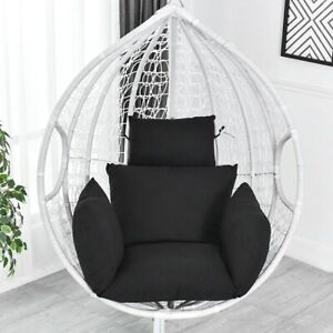 Patio Garden Rocking Swing Hanging Hammock Chair Seat Cushion Back Pillow Pads