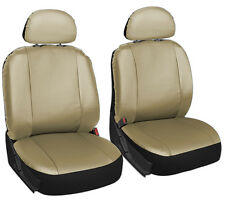 6 Piece Solid All Tan Beige Basic Front Truck Seat Cover Set Bucket Chairs 2A