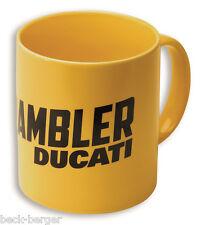 DUCATI SCRAMBLER MILESTONE tasse café tasse à café MUG JAUNE NEUF