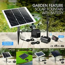 Solar Powered Fountain Water Pump Outdoor Garden Pool Submersible Kit 5-100W