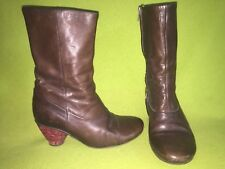 Brown Fly London Mid-Calf Boots 7 37