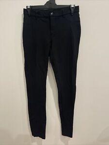 WITCHERY Women's designer black Ponti stretch knit zip fornt slim legging 8 EUC