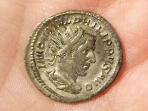 Roman Philip I 244-49 AR antoninianus Silver Coin SECVRIT ORBIS S2577  #EE5