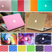 """2in1 Marble Rubberized Matte Case Skin +Keyboard Cover for MacBook Air Pro 13"""""""