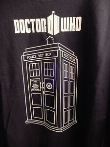 NEW w/Tag Doctor WHO Police Box T-Shirt UNIVERSAL STUDIOS Ripple Junction Size-L