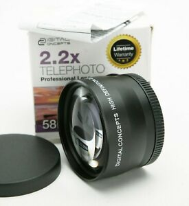 Digital Concepts HD 2,2x Telephoto Lens With 58mm Thread. Japan Optics. Unused.