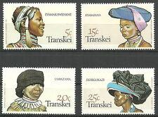 Transkei - Kopfbedeckungen der Xhosa-Frauen Satz postfrisch 1981 Mi. 92-95