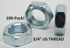 PACK OF 25 NEW 1//4-20 FINISHED HEX NUT GRADE 2 BLACK OXIDE FREE SHIP NH