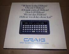 Craig Language Translator M100 Electronic-Four Cartridges-Russian French German