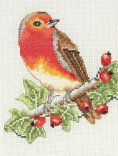 ANCHOR RED ROBIN BIRD COUNTED CROSS STITCH KIT AK125 SIZE 23CM X 16CM