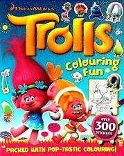 Trolls Colouring Book Fun With 300 Stickers, Children's Activity, Dreamworks New