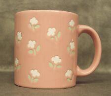 Waechtersbach Coffee Mug Cup Pink & White/Gray Flowers Germany