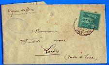 Type sage  sur enveloppe   obliteration LOCHES  1885 LAE1097