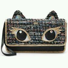 Juicy Couture Cat Clutch Tweed  Handbag