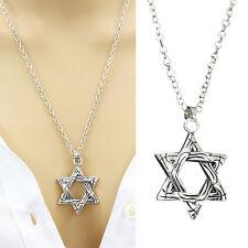 Star Of David Hexagram Magen Pendant Necklace Solomon Israel Tantrism Women Mens