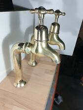 Large Antique Sink Taps solid brass Dent and Hellyer