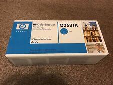 Genuine HP LaserJet Q2681A Cyan Toner Cartridge Sealed Box HP3700