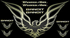 1993-2002 Trans Am / Firebird Bandit decal set Hood Bird 28X50 inches Gold more