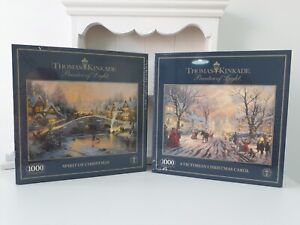 Collection of 2 x Gibsons 1000 Piece Christmas Jigsaw Puzzles - NEW