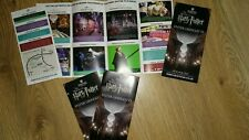 THE MAKING HARRY POTTER TOUR LEAFLET FLYER PUT WITH TICKETS MAKES A GREAT GIFT