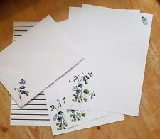 Bluebell flowers & butterfly Letter Writing Paper & Envelopes Stationery Set