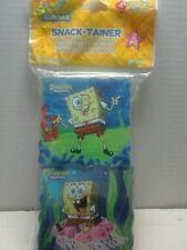SpongeBob  Squarepants Snack Container Box BPA Free 2 Pc Storage pink yellow