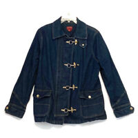Ralph Lauren CHAPS Size Large Blue Denim Fireman Barn Coat