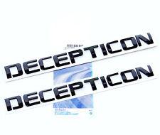 2x OEM Black DECEPTICON Nameplate Emblem Badge GMC Silverado Tahoe Ford dodge WU