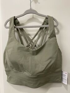 Lululemon Free To Be Serene Bra Long Line C/D Cup Size 8 Green