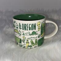 STARBUCKS Oregon 2017 Coffee Mug 14oz Been There Series Souvenir USA 14 oz Cup