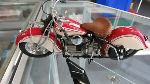 1942 INDIAN 442   FRANKLIN MINT DIECAST  MOTORCYCLE RED  RIDER