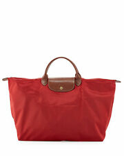 Longchamp Le Pliage Large Travel Bag Tote in Burnt Red, Nwt!