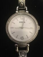 Fossil ES3225 Georgia Glitz Silver Dial Stainless Steel Womens Quartz Watch