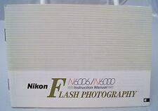 Nikon N6000/N6006 Flash Photography instruction manual