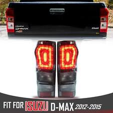 LED TAIL LIGHT LAMP REAR RED SMOKE LEN FOR ISUZU DMAX D-MAX 2012 2013 2014 2015