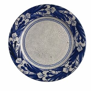 Antique Dedham Art Pottery Breakfast Plate Iris Pattern 1896-1928 Crackle Glaze