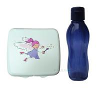 Tupperware Sandwichbox ELFE Brotdose FEE Kinder Lunchbox + EcoEasy Trinkflasche