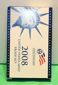 2008 S Proof Set U.S. Mint Original Government Packaging OGP Collectible