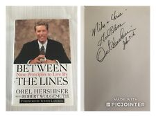 Orel Hershiser Auto Between the Lines Nine Principles to Live By Signed Book
