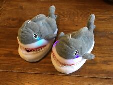 Children's Adult Light Up Baby Shark Cotton Slippers Plush Slippers Size 7-8 NWT