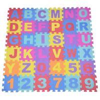 36Pcs bebe doux tapis de jeu en mousse EVA, Puzzle alphanumeriques pour lesJ4V2