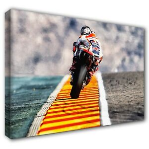 MARC MARQUEZ Aragón MotoGP Honda ~ Framed Canvas Print Wall Art Photo ~ 5 Sizes