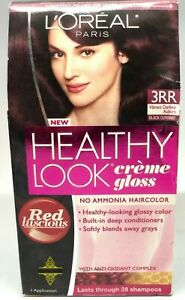 L'Oreal Healthy Look Creme Gloss 3RR Vibrant Darkest Auburn