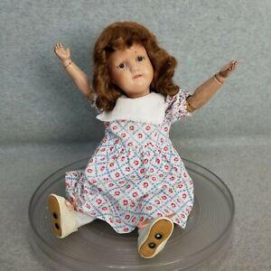 "15"" antique wooden jointed SCHOENHUT Miss Dolly Doll PAT' d  Jan 17, 1911"
